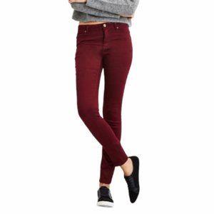 Burgundy Skinny Jeans 8